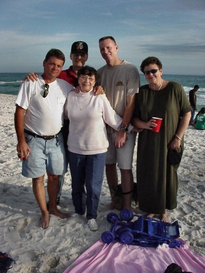 Craig, Steve, Douglas, and Brenda with our Mother