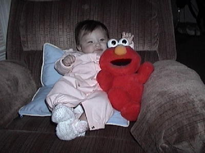 Ashlyn with Elmo